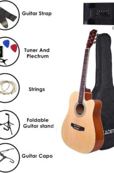 Kadence Frontier Jumbo Semi Acoustic Guitar With Combo Pack